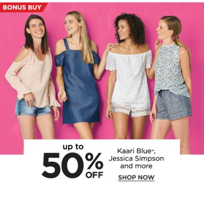 Bonus Buy - Up to 50% off Kaari Blue™ and Jessica Simpson and more. Shop Now.