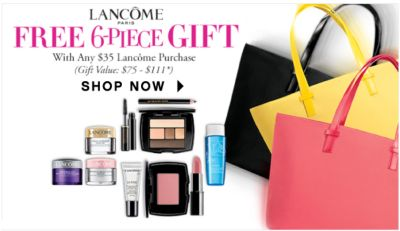Lancôme Paris - Free 6-piece Gift with any $35 Lancôme purchase (Gift Value: $75-$111*) | Shop Now