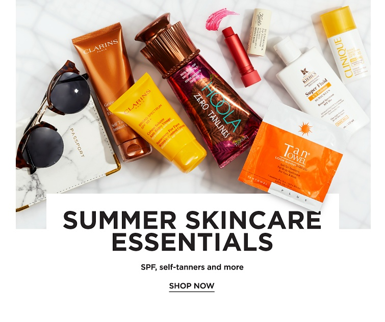 Summer Skincare Essentials. SPF, self-tanners and more. Shop now.