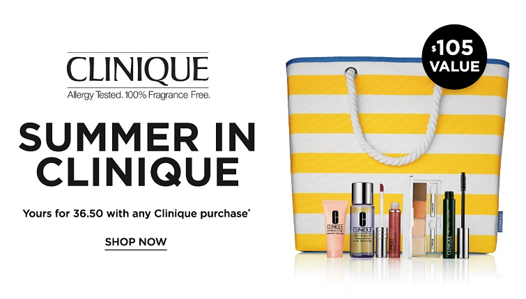 Clinique - Summer In Clinique. Yours for 36.50 with any Clinique purchase. Shop now.