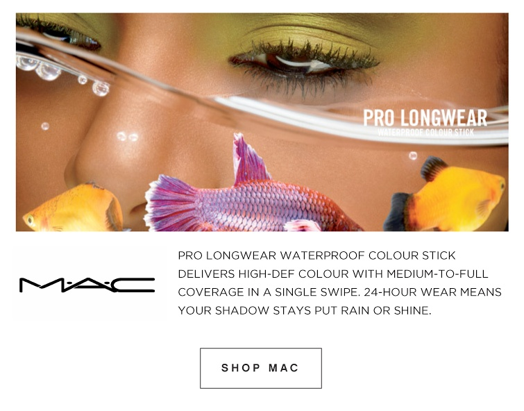 M·A·C Pro Longwear Waterproof colour stick delivers high-def colour with medium-to-full coverage in a single swipe. 24-hour wear means your shadow stays put rain or shine. | Shop MAC