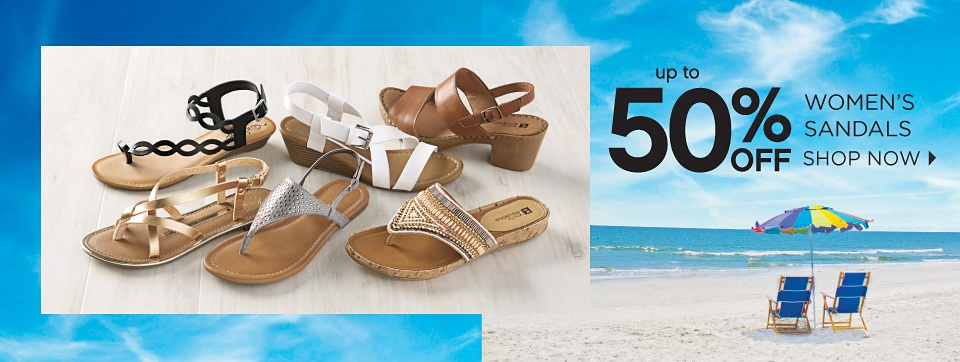 up to 50% OFF WOMEN'S SANDALS | SHOP NOW