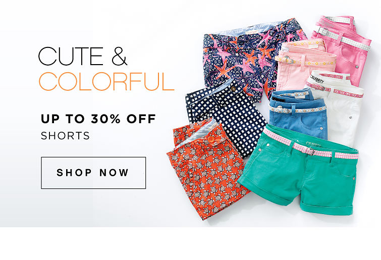 Cute & colorful | Up to 30% off shorts | shop now