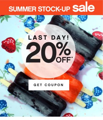 SUMMER STOCK-UP sale | LAST DAY! 20% OFF* | GET COUPON