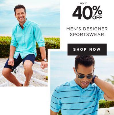 up to 40% OFF | MEN'S DESIGNER SPORTSWEAR | SHOP NOW
