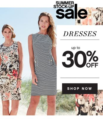 SUMMER STOCK-UP sale | DRESSES up to 30% OFF | SHOP NOW