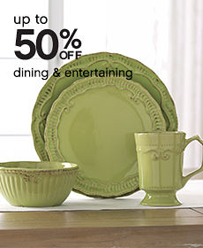 Up to 50% off dining & entertaining