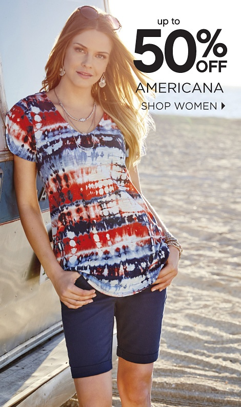 UP TO 50% OFF AMERICANA | SHOP WOMEN
