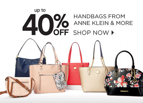 up to 40% OFF HANDBAGS FROM ANNE KLEIN & MORE | SHOP NOW