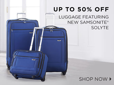 up to 50% off luggage featuring new samsonite® solyte | shop now