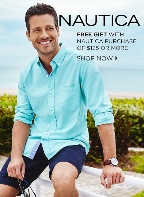 Nautica | free gift with nautica purchase of $125 or more | shop now
