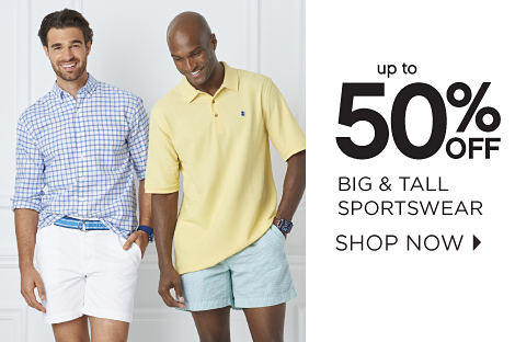 up to 50% off big & tall sportswear | shop now