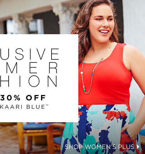 Exclusive summer fashion | up to 30% off featuring kaari blue™ | shop women's plus