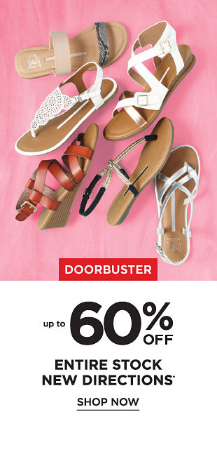 Doorbuster! Up to 60% off Entire Stock of New Directions - Shop Now