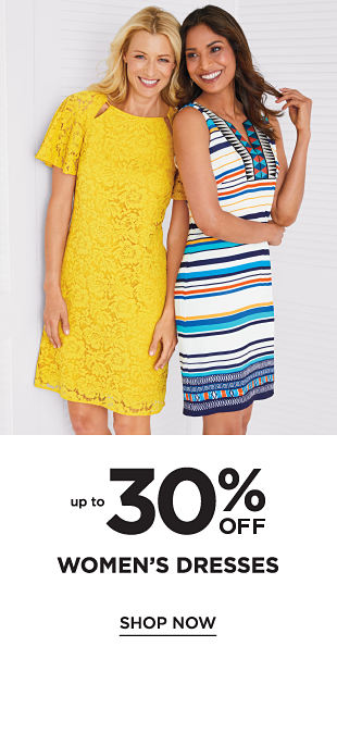 Up to 30% off Women's Dresses - Shop Now
