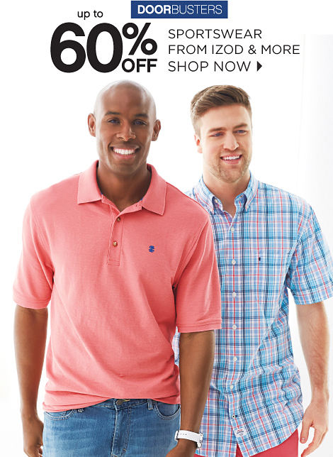 DOORBUSTERS | up to 60% off sportswear from izod & more | shop now