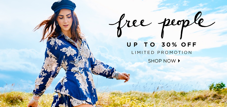 FREE PEOPLE | up to 30% off | limited promotion | shop now