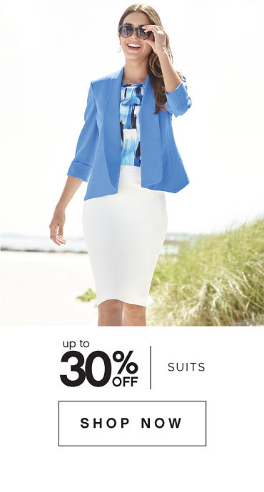 Up to 30% off Suits - Shop Now