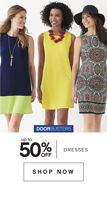 Doorbusters | Up to 50% off Dresses - Shop Now