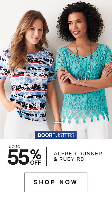 Doorbusters | Up To 55% Off Alfred Dunner & Ruby Rd. - Shop Now
