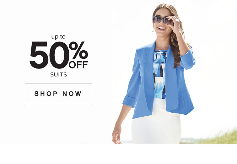 Up to 50% off Suits - Shop Now