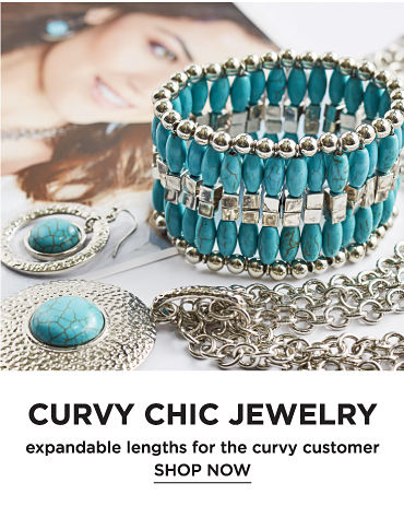 Curvy chic jewelry - expandable lengths for the curvy customer. Shop now.