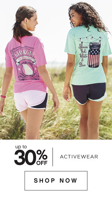 Up to 30% off activewear | shop now