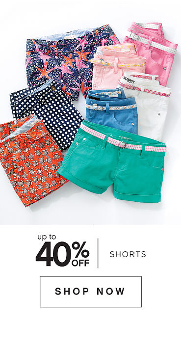 Up to 40% off shorts | shop now