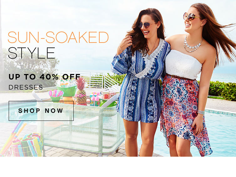 Sun-soaked style | Up to 40% off dresses | shop now