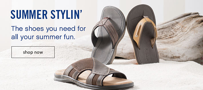 Summer Stylin' - The shoes you need for all your summer fun.