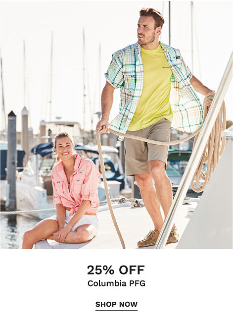 25% off Columbia PFG - Shop Now
