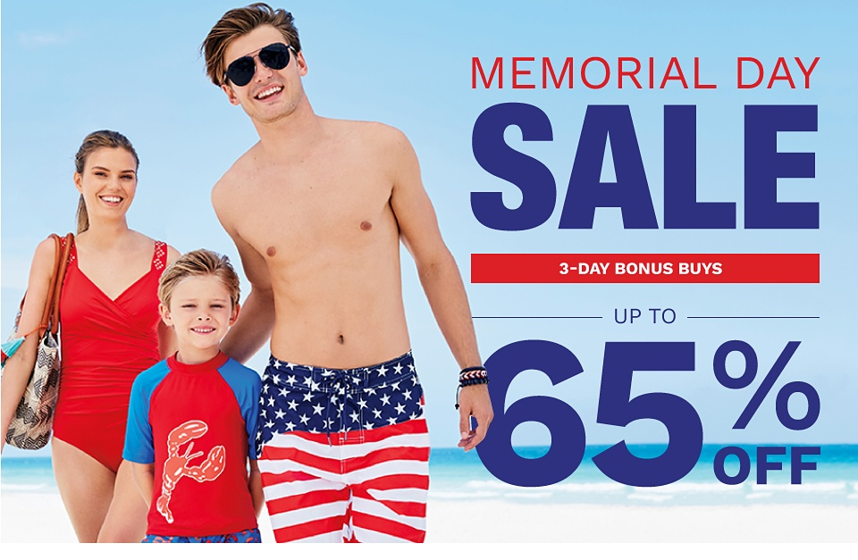 Memorial Day Sale! 3-Day Bonus Buys - Up to 65% off