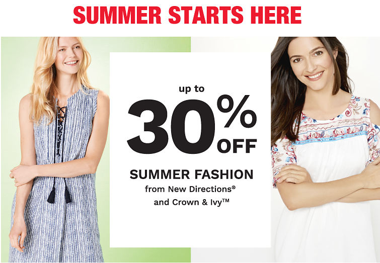Summer Starts Here - up to 30% off Belk Exclusives from New Directions® and Crown & ivy™
