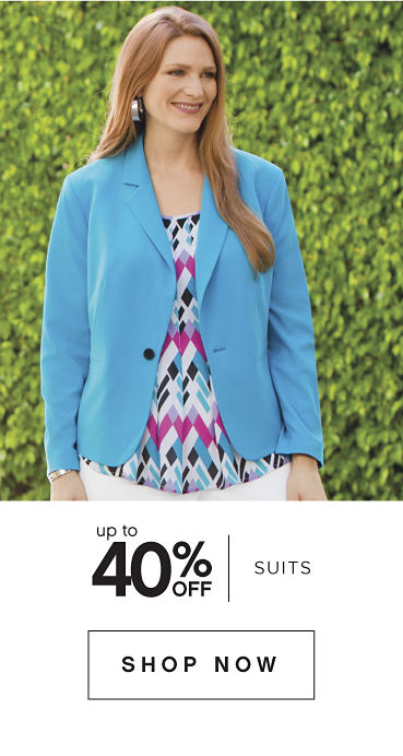 Up to 40% off Suits - Shop Now