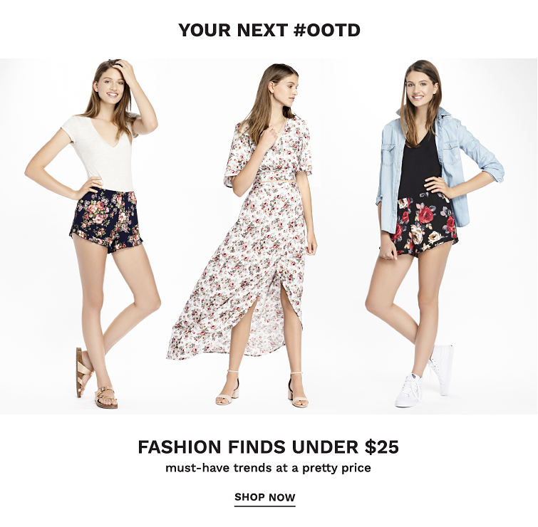 Your Next #OOTD - Fashion Finds Under $25 - must-have trends at a pretty price. Shop now.