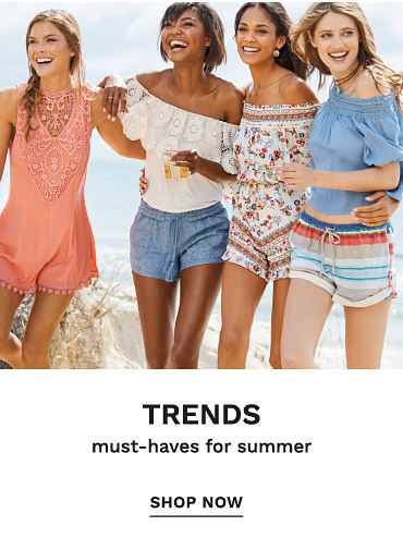 Trends - must-haves for summer. Shop now.