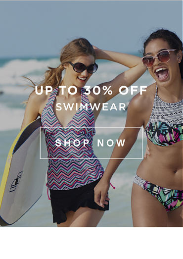 Up to 30% off swimwear | shop now
