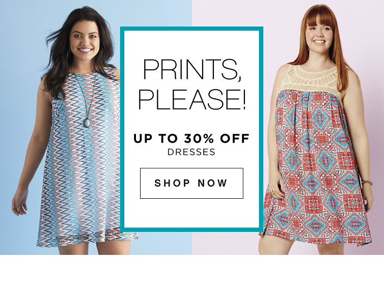 Prints, please! | Up to 30% off dresses | shop now