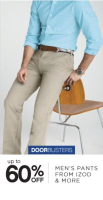 DOORBUSTERS | up to 60% OFF MEN'S PANTS FROM IZOD & MORE