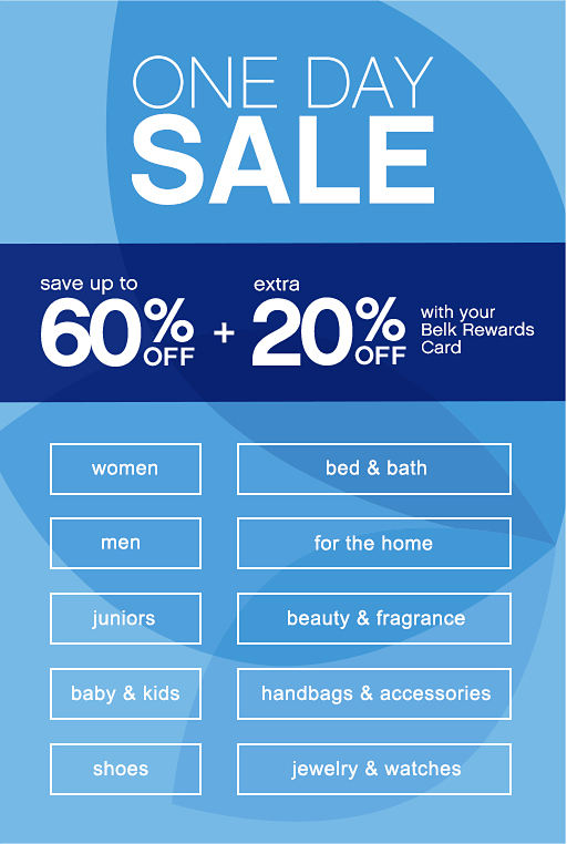 One Day Sale | Save up to 60% off + Extra 20% Off with ...