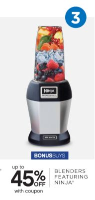 3 | BONUSBUYS | up to 45% OFF with coupon | BLENDERS FEATURING NINJA®