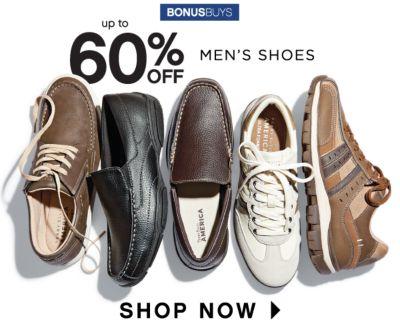 BONUSBUYS   up to 60% OFF MEN'S SHOES   SHOP NOW
