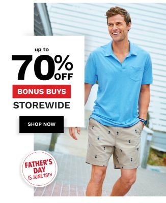 Up to 70% off Bonus Buys Storewide {Father's Day is June 18th} Shop Now.