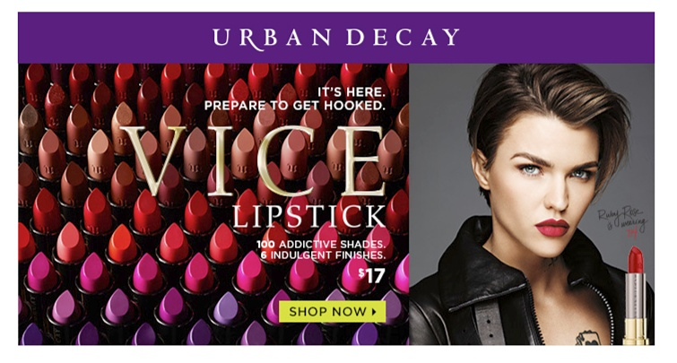 Urban Decay It's Here. Prepare to get hooked. Vice Lipstick - 100 Addictive shades & indulgent finishes - $17 | Shop Now