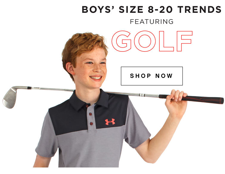 Boys' size 8-20 trends featuring golf | shop now