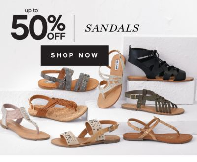 up to 50% OFF SANDALS | SHOP NOW