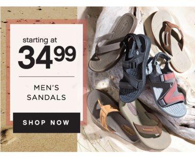 starting at 34.99 MEN'S SANDALS | SHOP NOW
