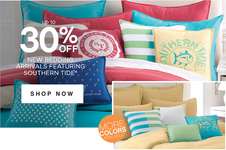 Up to 30% off New Bedding Arrivals Featuring Southern Tide®  | Shop Now