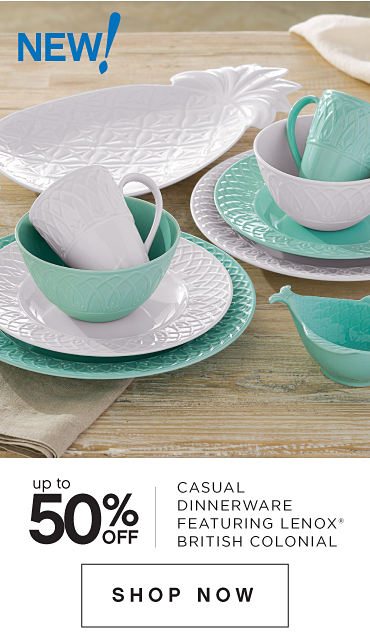 Featuring Lenox® British Colonial Carved Dinnerware & Accessories  | Shop Now
