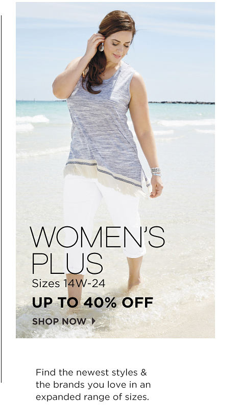 Women's Plus Sizes 14W-24 Up To 40% Off Shop Now | Find The Newest Styles & The Brands You Love In An Expanded Range Of Sizes